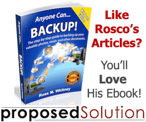 An ebook by Rosco - Anyone Can...Backup!