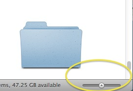 Missing Mac OS X Lion Zoon Slider Status Bar
