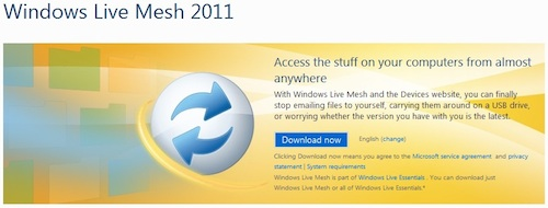 WIndows Live Mesh 2011