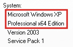 Windows XP 64 Bit Version